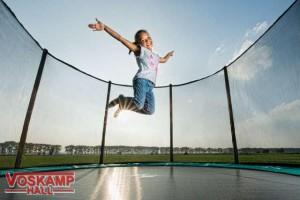 Berg toys Veilig springen met safetynet rondom voskamp hall
