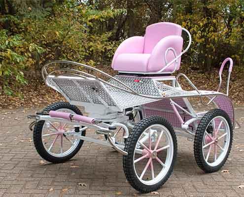 Pony-marathon-wagen-koets-roze