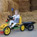 BERG John Deere Buddy + accessories + trailer junior with girl