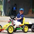 BERG John Deere Buddy + trailer junior with boy