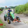 BERG John Deere + pallet fork action with boy