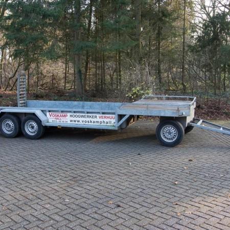 Aanhangwagen verhuur Oprijwagen minikraan