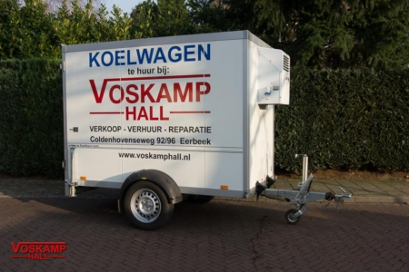 aanhangwagen verhuur enkelasser koelwagen