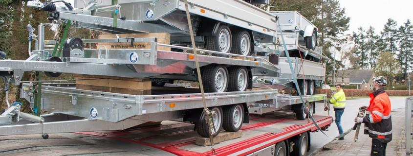 Hapert vrachtwagen