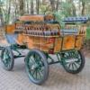 Koets Pallene-06346 voskamp hall Recreatiewagen groen met hout