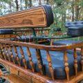 Koets Pallene-06352 voskamp hall gedraaide houten rugleuning met rug steun en armleggers