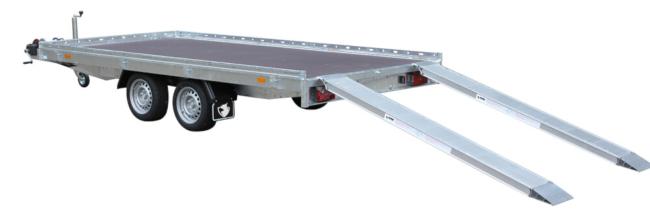 Hapert-Indigo-HF-2 transporter met oprij platen